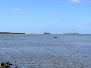 L'îlot chat et l'îlot singe vues depuis le monument