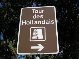 Le panneau de la Tour des Hollandais