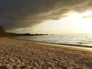 Un aperçu de la plage de Mont Choisy et ses filaos